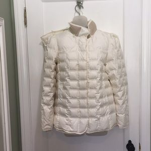 Juicy Couture Cream Hooded Puffer Jacket Large